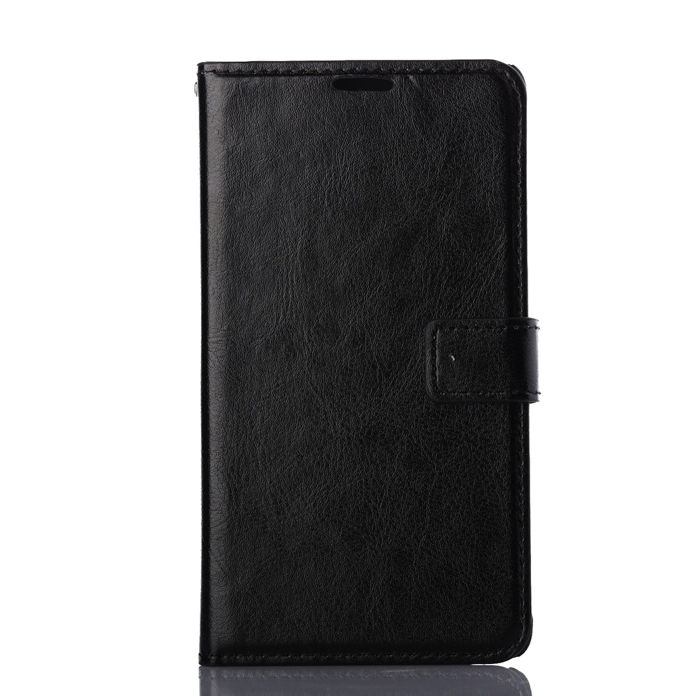 Husa piele fina, tip portofel, inchidere magnetica, stand, suport silicon, Samsung Galaxy Note 4 - CaseMe, Negru