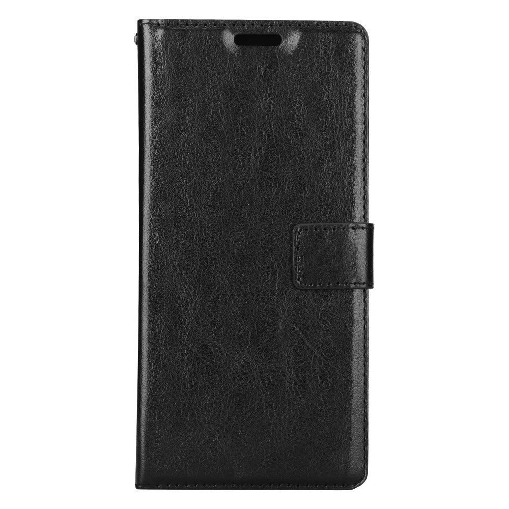 Husa piele fina, tip portofel, inchidere magnetica, stand, suport silicon, Samsung Galaxy Note 8 - CaseMe, Negru