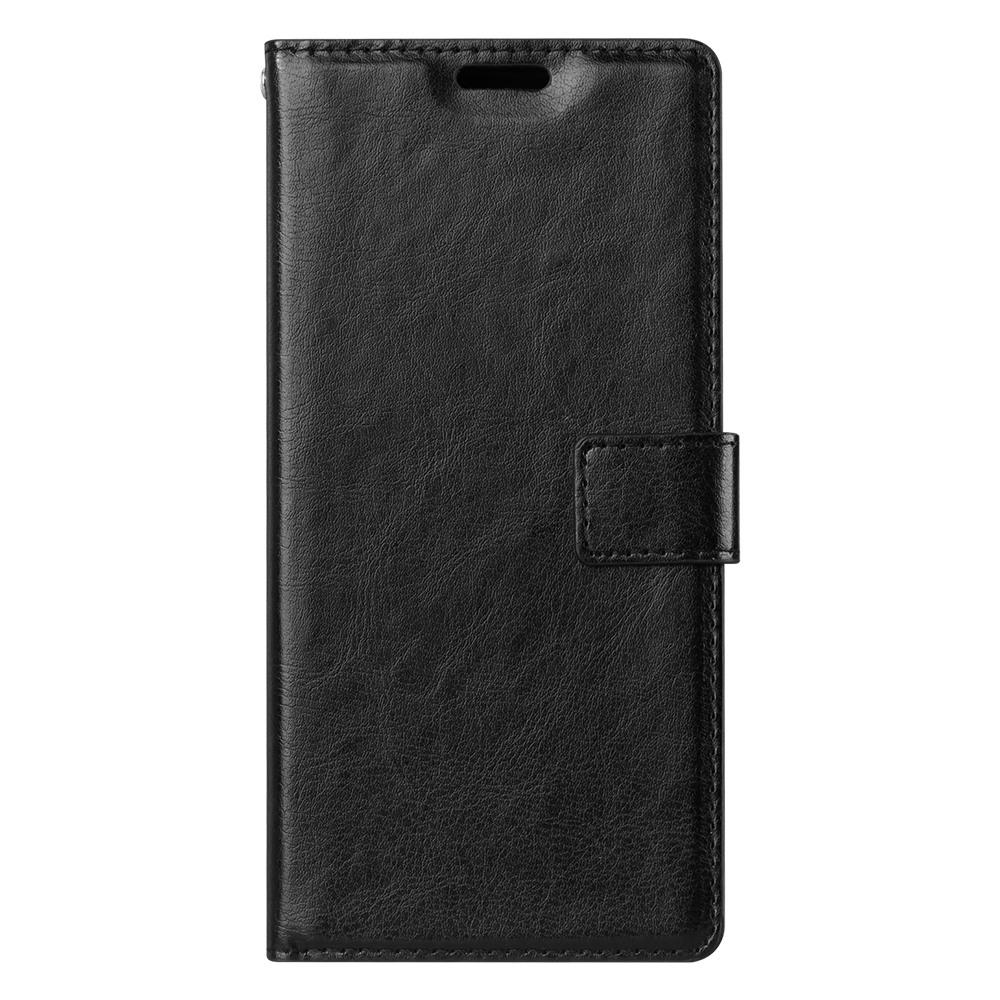 Husa piele fina, tip portofel, inchidere magnetica, stand, suport silicon, Samsung Galaxy Note 5 / Note 5 Duos - CaseMe, Negru
