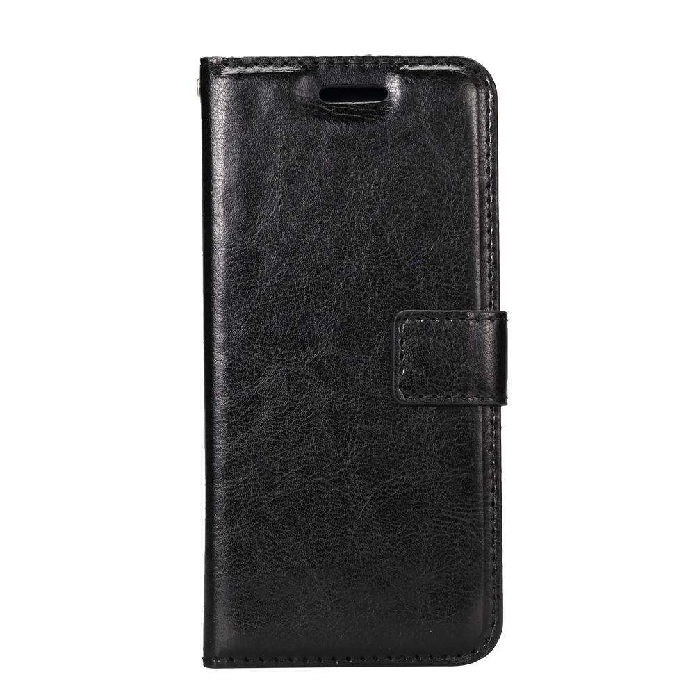 Husa piele fina, tip portofel, inchidere magnetica, stand, suport silicon, Samsung Galaxy S8 - CaseMe, Negru