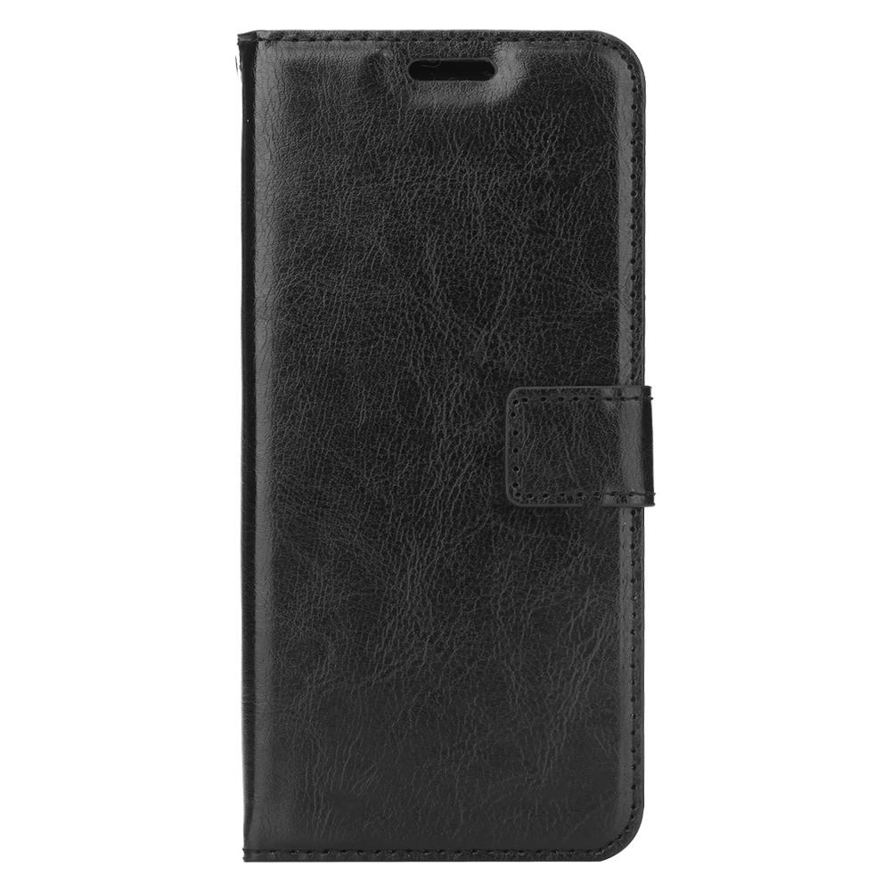 Husa piele fina, tip portofel, inchidere magnetica, stand, suport silicon, Samsung Galaxy S9 - CaseMe, Negru