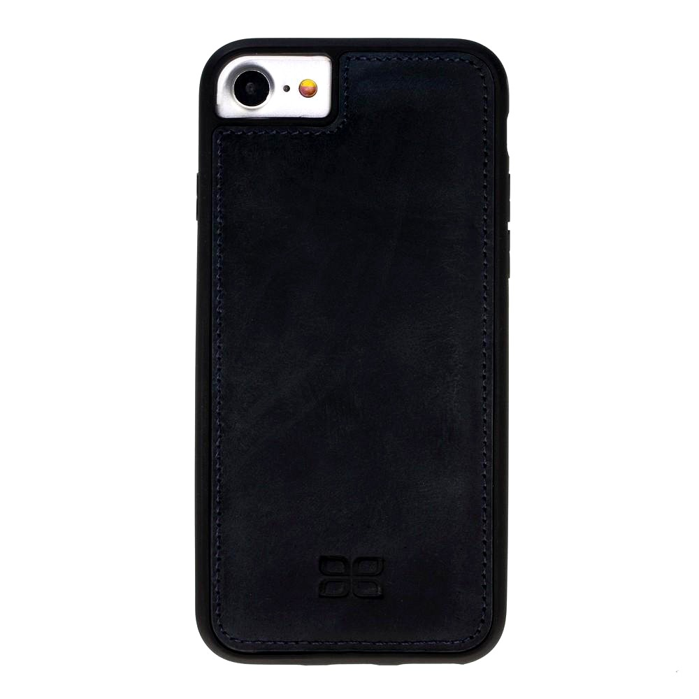 Husa slim piele naturala + rama TPU moale, tip back cover, iPhone SE 2 (2020), iPhone 8, iPhone 7, iPhone 6 / 6s - Bouletta Flex Cover, Antique dark blue