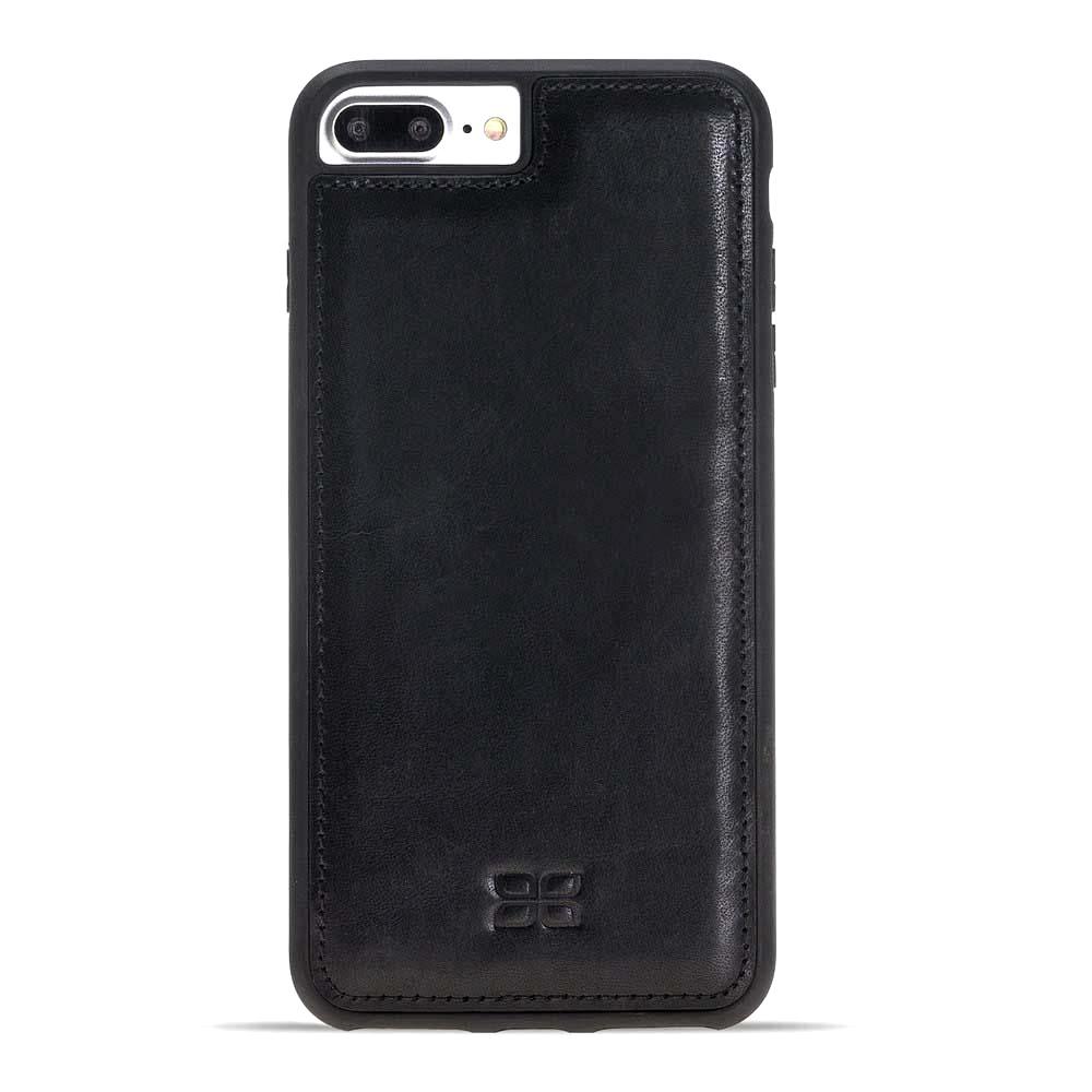 Husa slim piele naturala + rama TPU moale, back cover, iPhone 8 Plus / 7 Plus - Bouletta Flex Cover, Rustic black