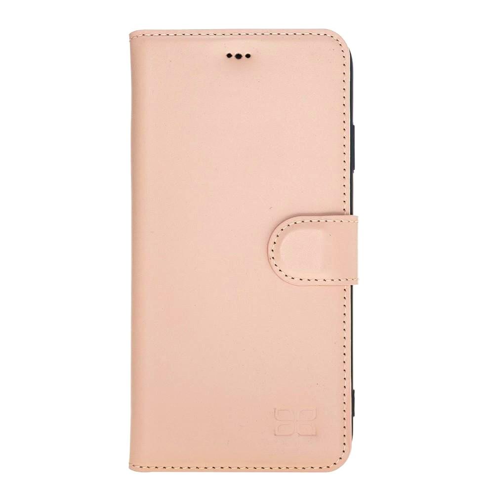 Husa piele naturala, tip portofel, stand, iPhone XS Max - Bouletta Wallet, Nude