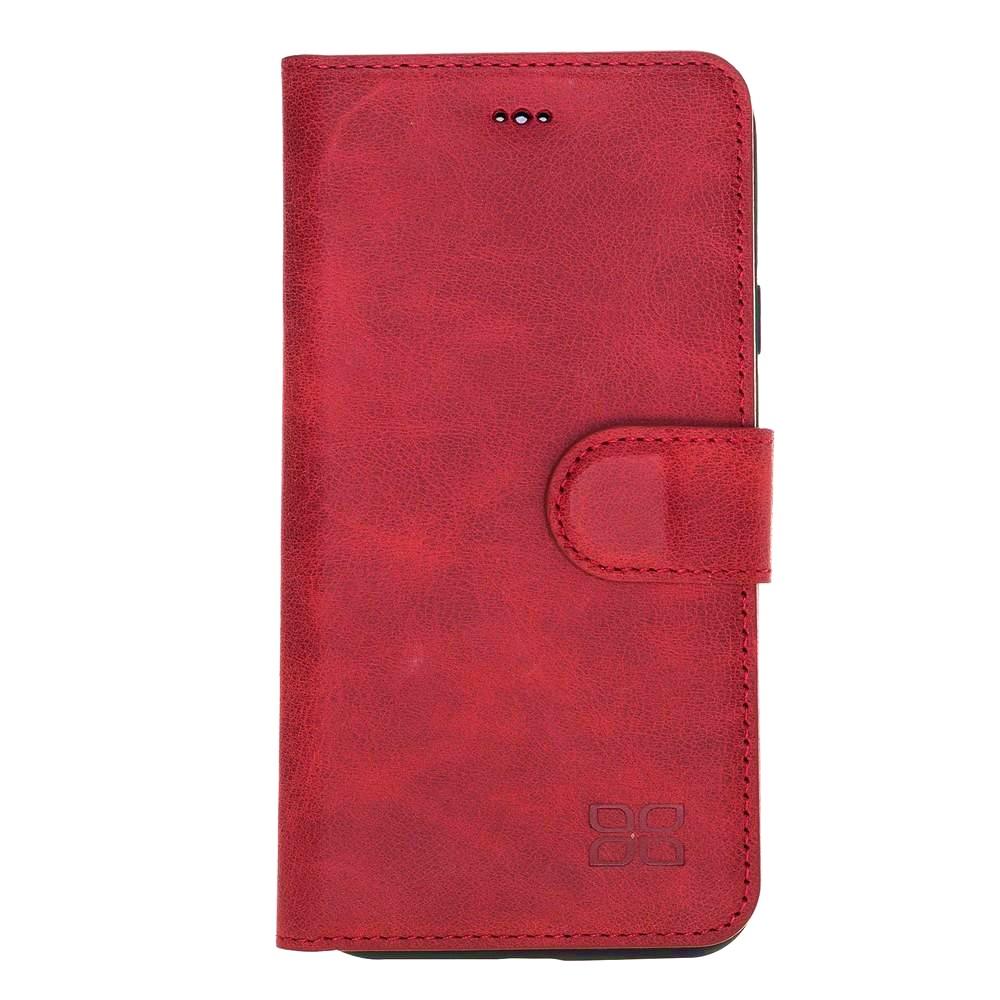 Husa piele naturala, tip portofel, stand, iPhone XS Max - Bouletta Wallet, Tiana red