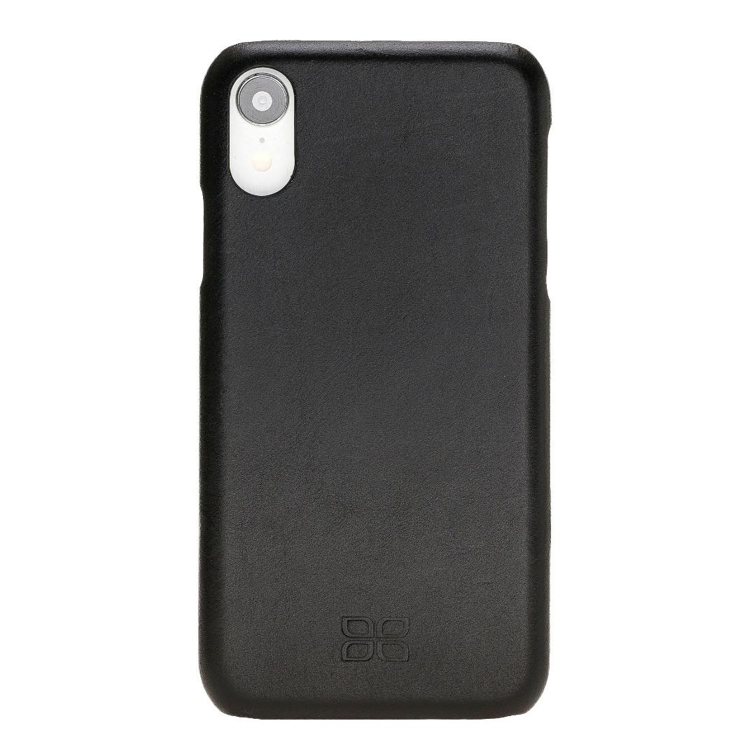 Husa slim piele naturala, tip back cover, iPhone XR - Bouletta Ultimate Jacket, Rustic black