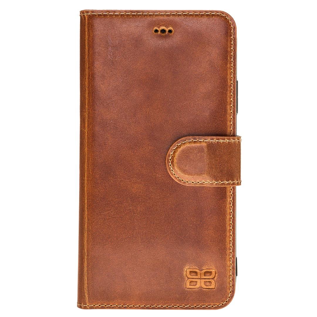 Husa piele naturala, tip portofel, stand, iPhone XR - Bouletta Wallet, Tan