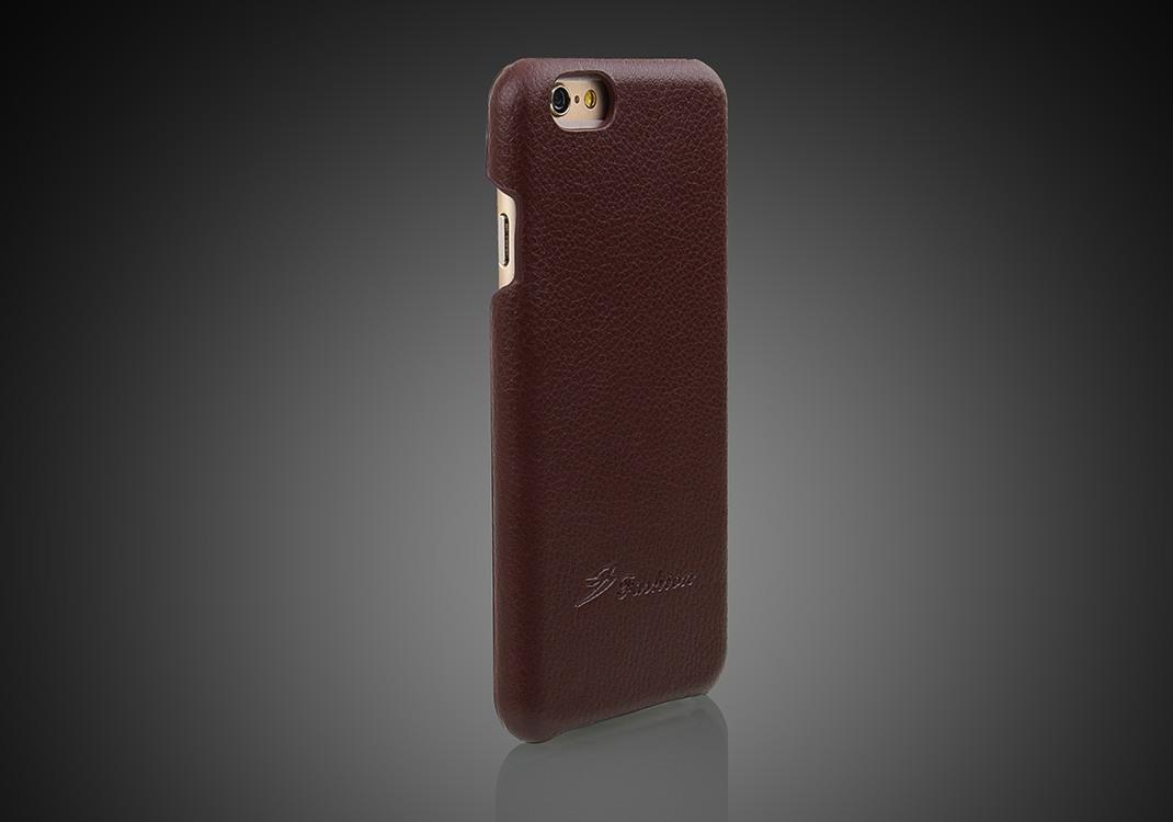 Husa slim din piele, tip back cover, iPhone 6 / 6s, Maro
