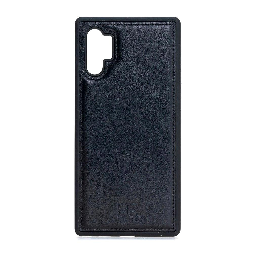 Husa slim piele naturala + rama TPU moale, back cover, Samsung Galaxy Note 10 Plus - Bouletta, Rustic black