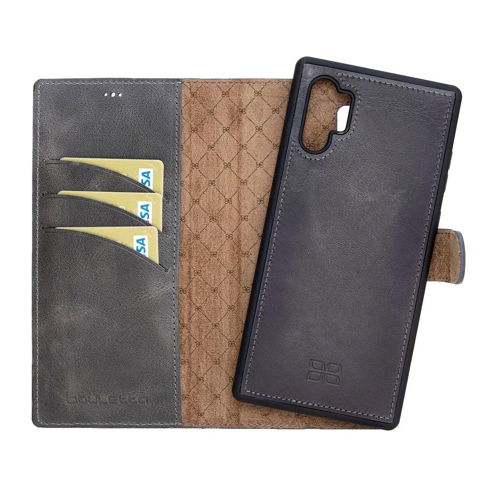 Husa piele naturala 2in1, portofel + back cover, Samsung Galaxy Note 10 Plus - Bouletta Magic Wallet, Tiana grey
