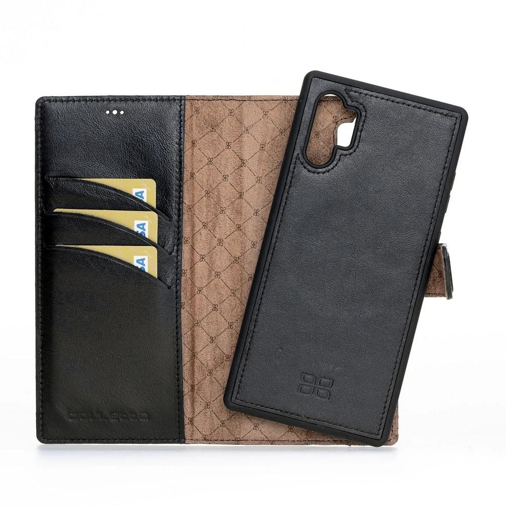 Husa piele naturala 2in1, portofel + back cover, Samsung Galaxy Note 10 Plus - Bouletta Magic Wallet, Rustic black