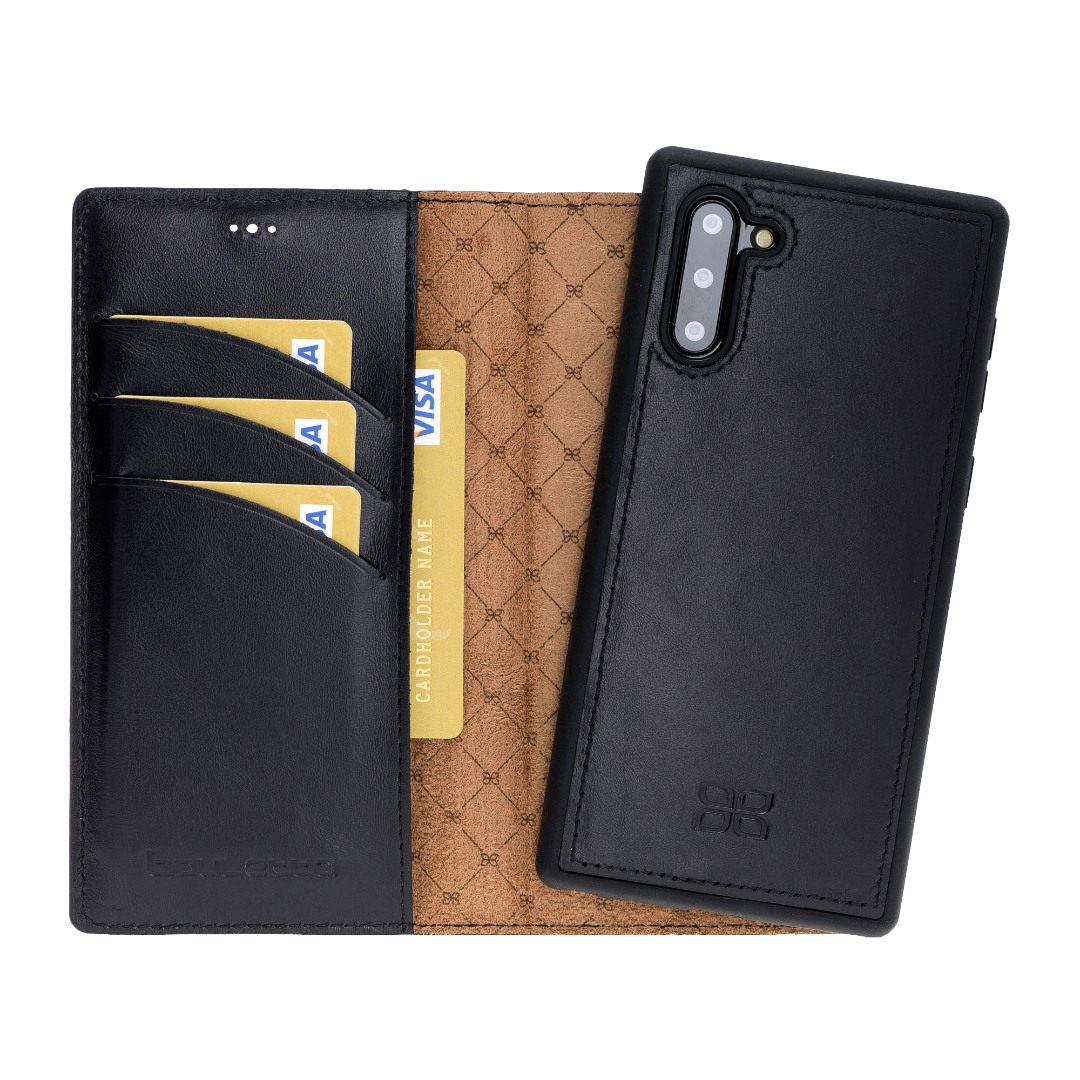 Husa piele naturala 2in1, portofel + back cover, Samsung Galaxy Note 10 - Bouletta Magic Wallet, Rustic black