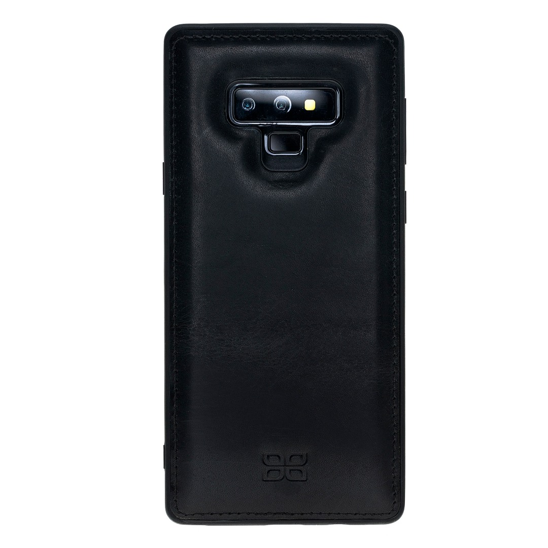 Husa slim piele naturala + rama TPU moale, back cover, Samsung Galaxy Note 9 - Bouletta, Vegetal black