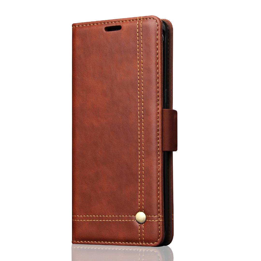 Husa piele, tip portofel, cusaturi ornamentale, stand, inchidere magnetica, Samsung Galaxy Note 8 - CaseMe, Maro coffee