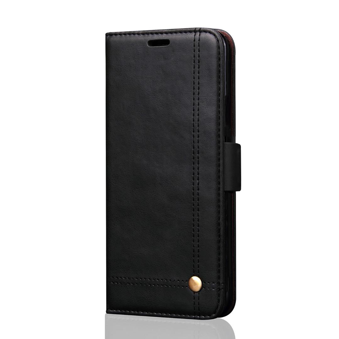 Husa piele, tip portofel, cusaturi ornamentale, stand, inchidere magnetica, Samsung Galaxy Note 8 - CaseMe, Negru