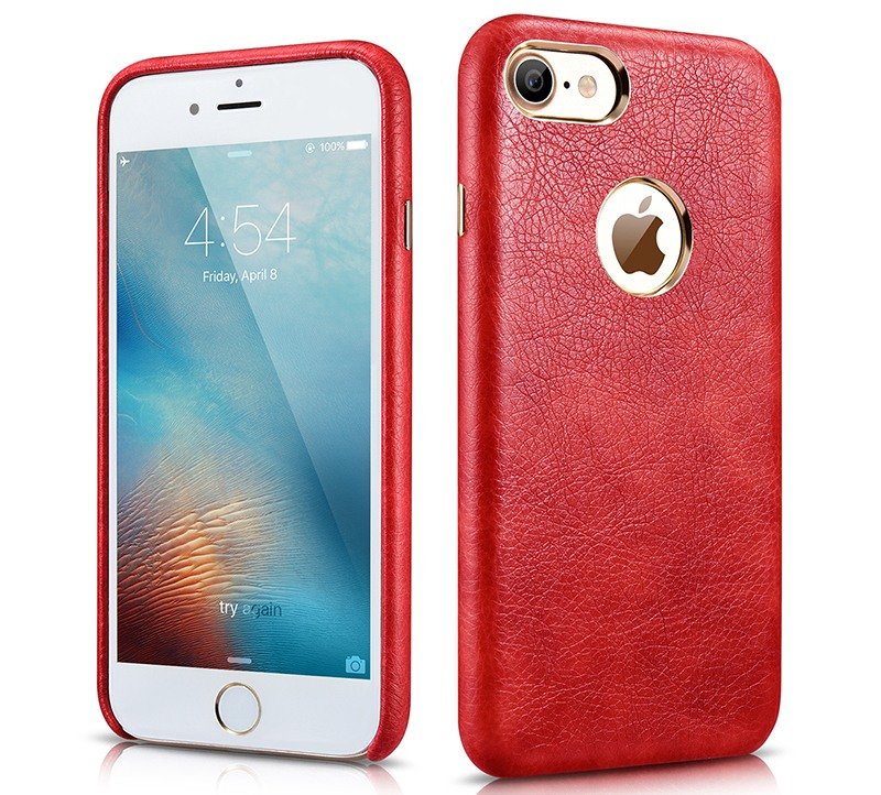 Husa piele, tip back cover, iPhone 7, Xoomz Liquid Series, Rosu