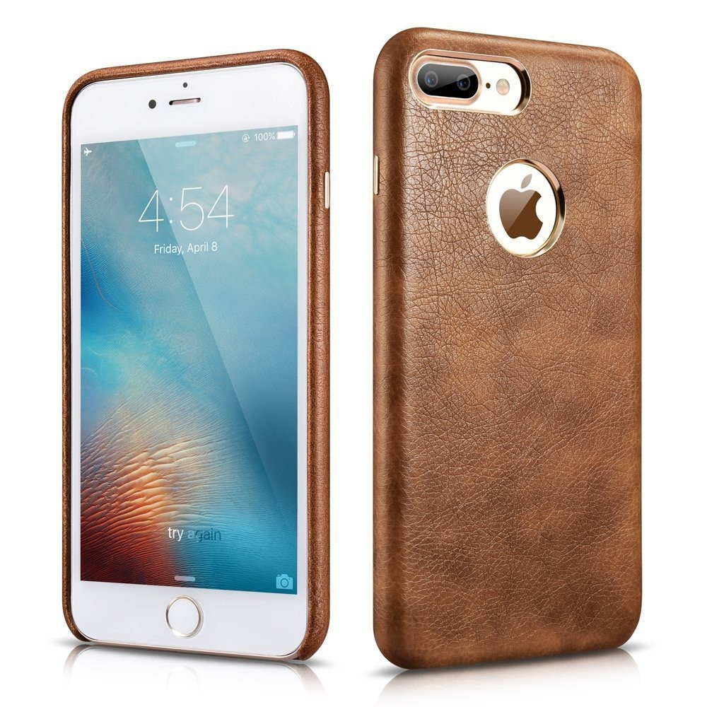 Husa piele, tip back cover, iPhone 7 Plus - Xoomz by iCarer Liquid Series, Maro