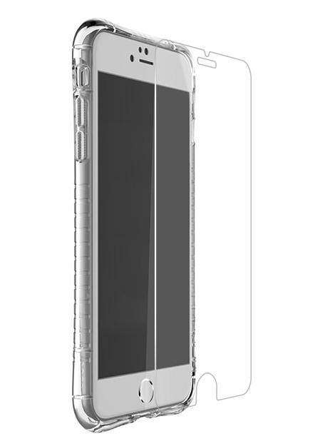 Pachet Husa + Folie rezistente la socuri, anti-alunecare, back cover, iPhone SE 2 (2020), iPhone 8, iPhone 7 - Hoco Armor, Transparent