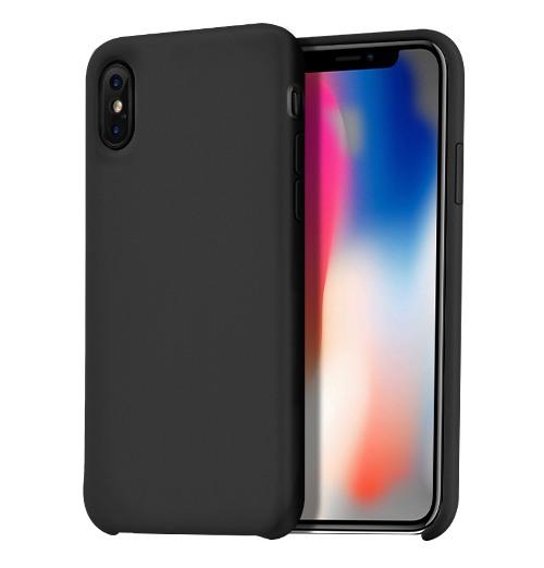 Husa silicon, protectie superioara, tip back cover, iPhone X / XS - Hoco Pure, Negru