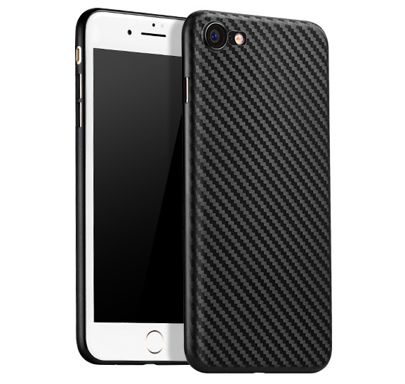 Husa slim, aspect fibra de carbon, back cover, iPhone 8 / iPhone 7 - Hoco Ultra Thin Carbon, Negru