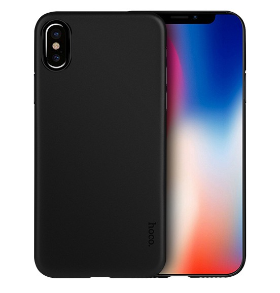 Husa ultra slim mata, tip back cover, iPhone X / XS - HOCO Thin, Negru