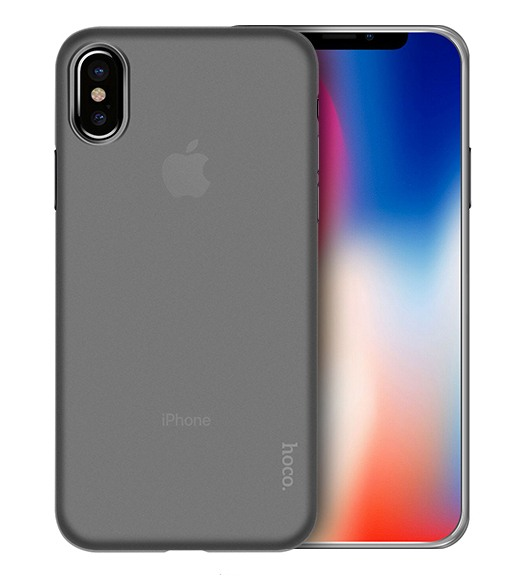 Husa ultra slim mata, tip back cover, iPhone X / XS - HOCO Thin, Alb transparent