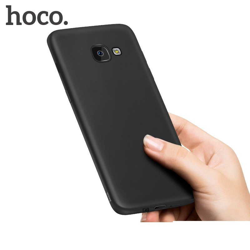 Husa slim mata, TPU moale si fin, tip back cover, Samsung Galaxy J7 Prime - Hoco, Negru