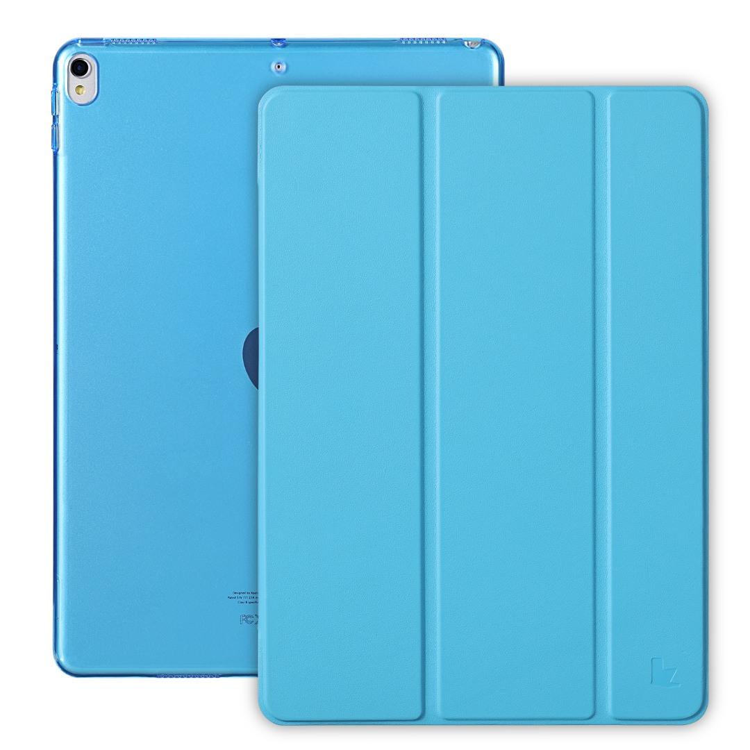 Husa slim cu spate transparent, smart cover, functie stand, iPad Pro 10.5 / iPad Air 3 10.5 - Jison Case, Albastru