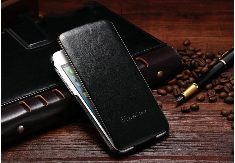 Husa piele fina, tip flip cover, iPhone 6 / 6s - CaseMe, Negru