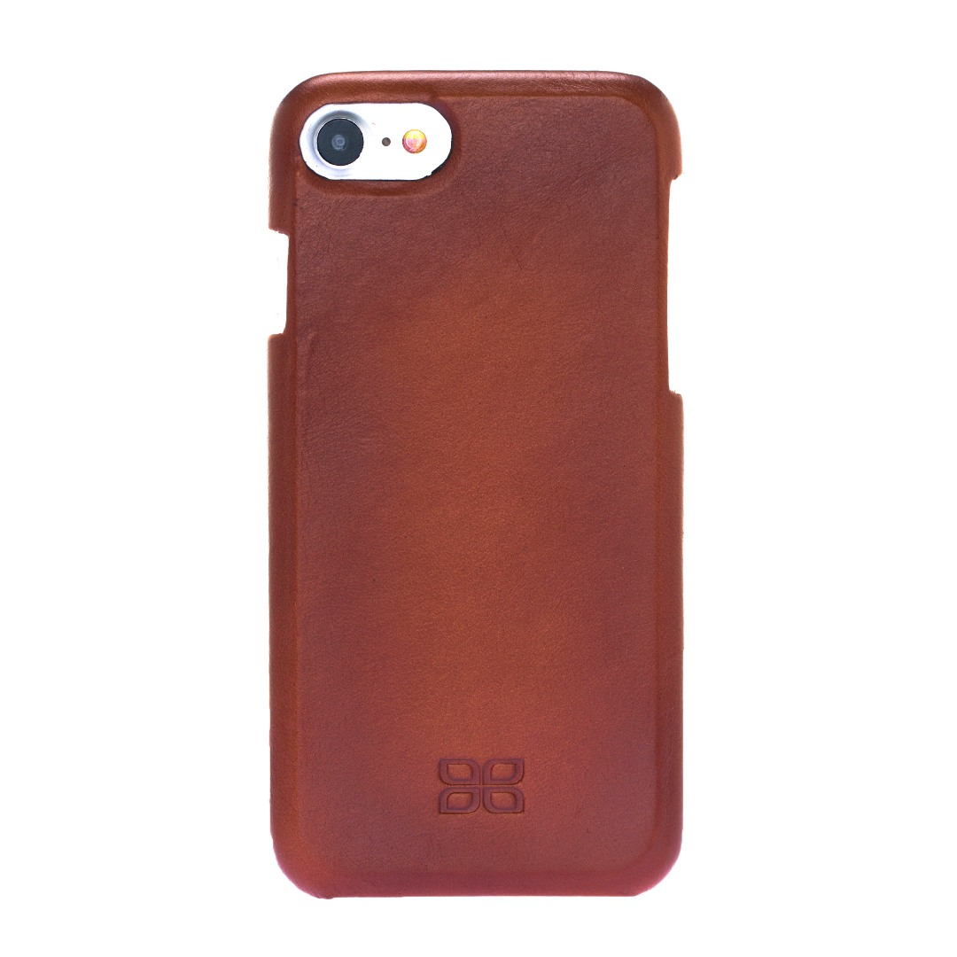 Husa slim full piele naturala, tip back cover, iPhone SE 2 (2020), iPhone 8, iPhone 7, iPhone 6 / 6s - Bouletta, Burnished tan