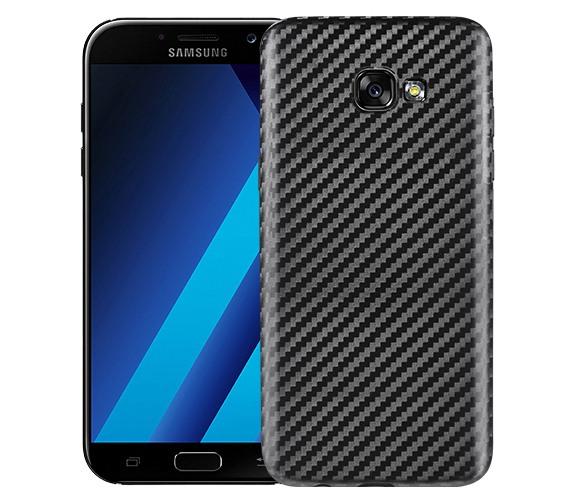 Husa slim din TPU, aspect fibra de carbon, back cover, Samsung Galaxy Galxy A7 (2017) - Hoco, Negru