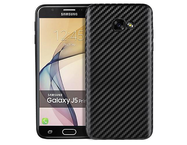 Husa slim din TPU, aspect carbon, back cover, Samsung Galaxy J5 Prime (2016) - Hoco, Negru