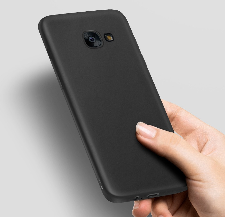Husa slim mata, TPU moale si fin, tip back cover, Samsung Galaxy A3 (2017) - Hoco, Negru