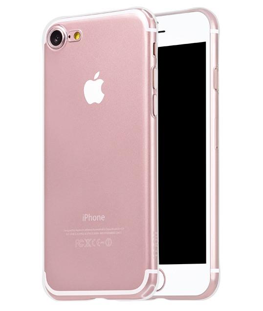 Husa ultra slim din silicon + gel TPU, tip back cover, iPhone 8 / iPhone 7 - HOCO Light, Transparent