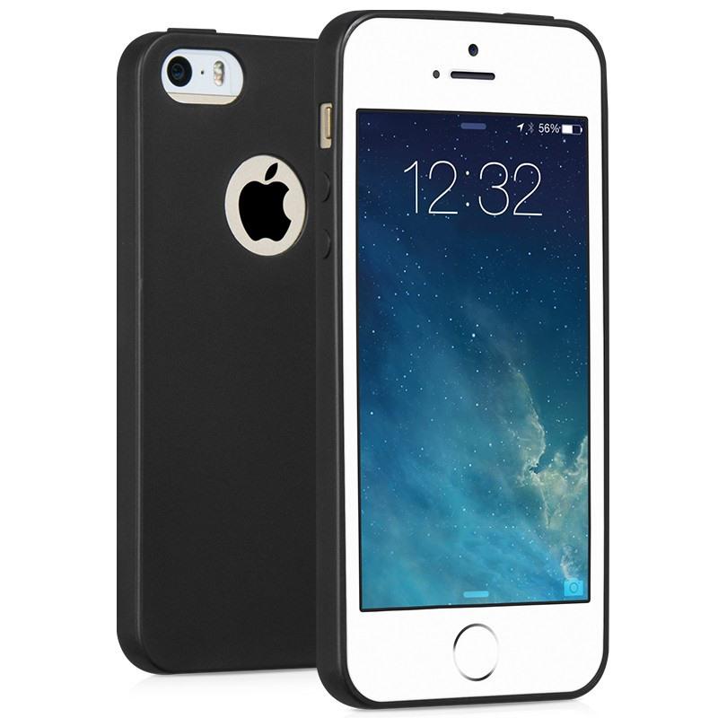 Husa slim mata, TPU moale si fin, tip back cover, iPhone SE / 5 / 5s- Hoco Fascination, negru