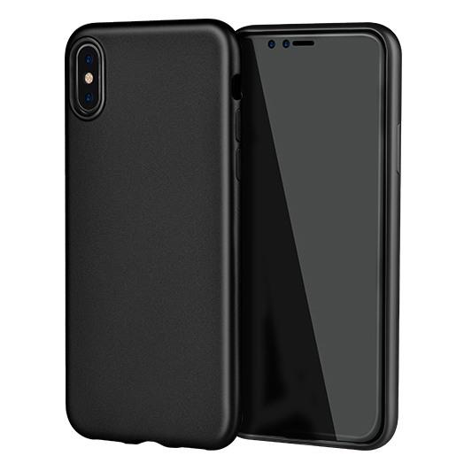 Husa slim mata, TPU fin, 1mm, tip back cover, iPhone X / XS - Hoco Phantom, Negru