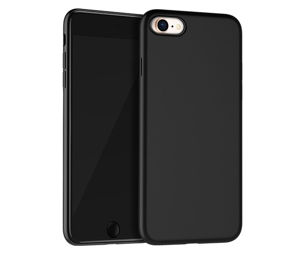 Husa slim mata, TPU moale si fin, tip back cover, iPhone 8 / iPhone 7 - Hoco Fascination, Negru