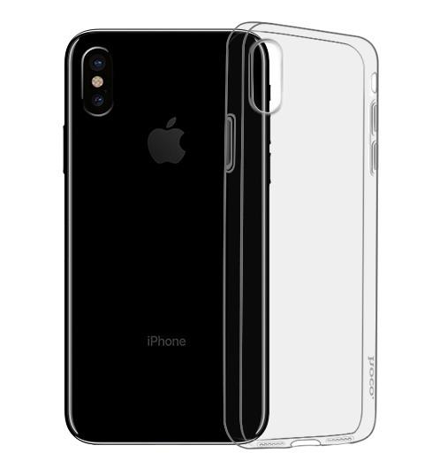 Husa ultra slim din gel TPU, tip back cover, iPhone X / XS - HOCO Light, Negru transparent