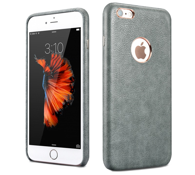 Husa piele, tip back cover, iPhone 6 / 6s - Xoomz by iCarer Liquid, Gri