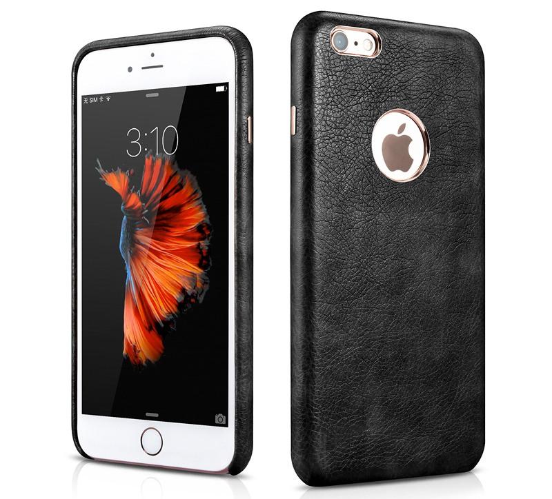 Husa piele, tip back cover, iPhone 6 / 6s - Xoomz by iCarer Liquid, Negru