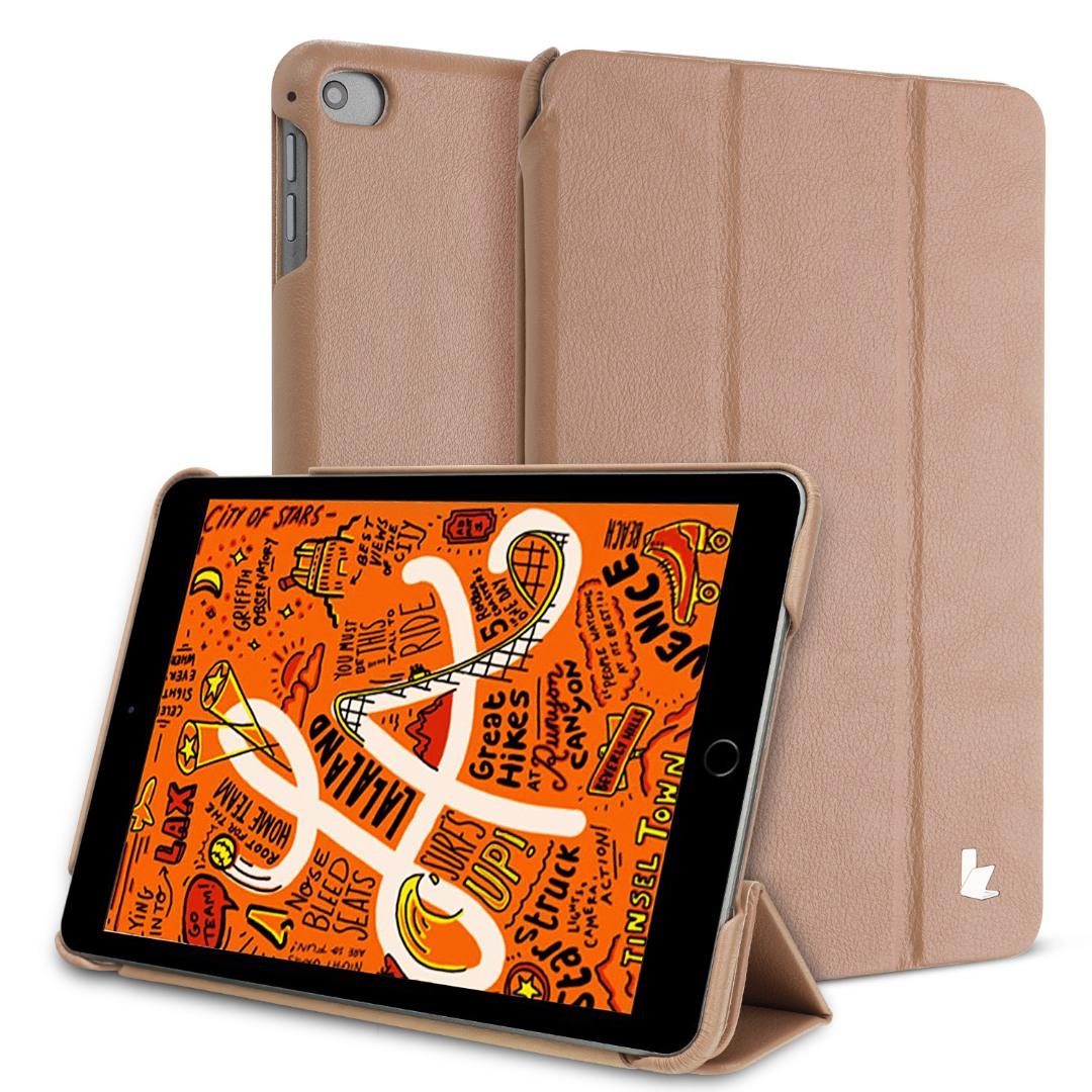 Husa piele fina microfibra, smart cover, stand, iPad Mini 5 (2019) / Mini 4 - Jison Case, Maro