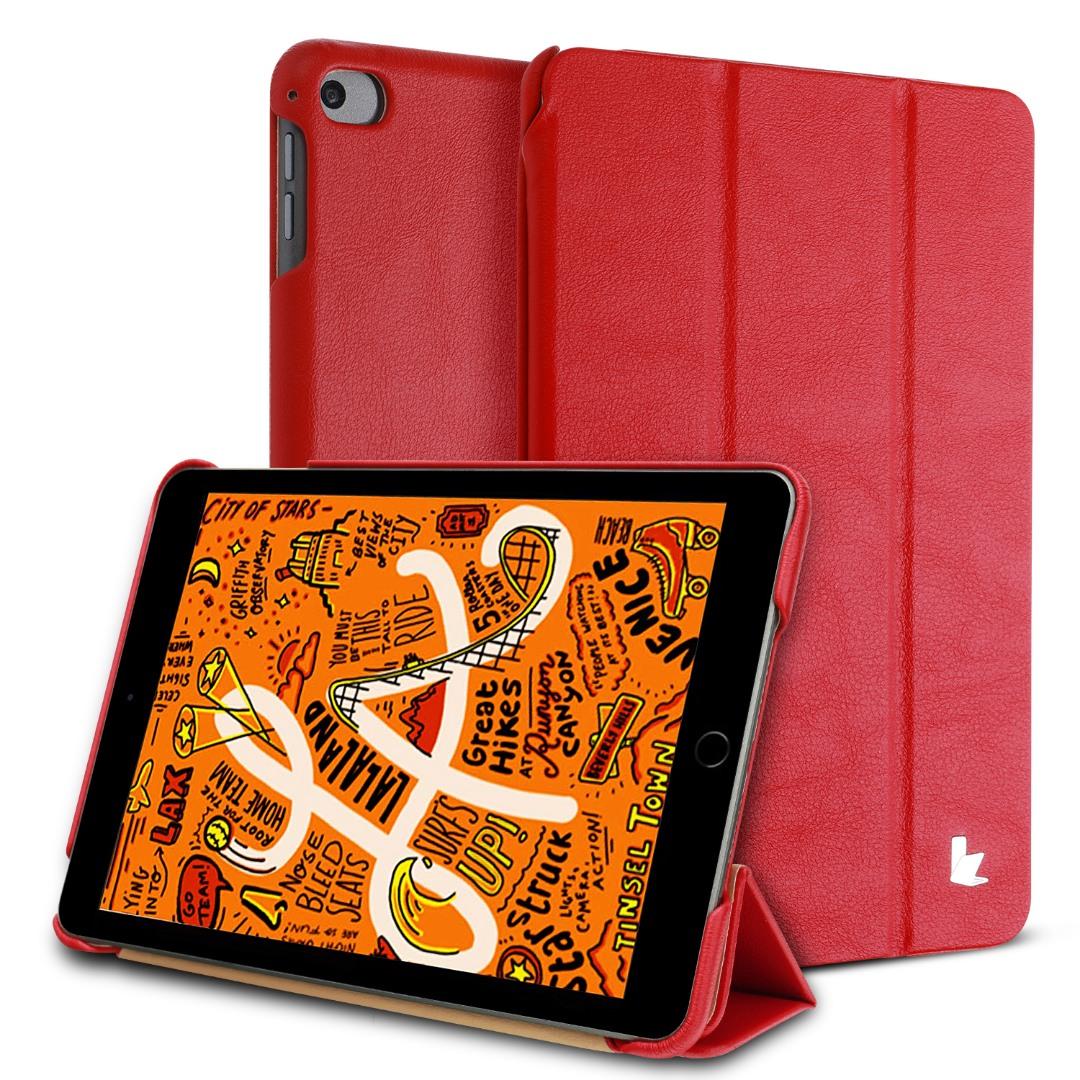 Husa piele fina microfibra, smart cover, stand, iPad Mini 5 (2019) / Mini 4 - Jison Case, Rosu