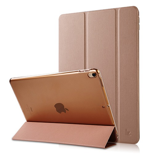 Husa slim cu spate transparent, smart cover, functie stand, iPad Pro 10.5 / iPad Air 3 10.5 - Jison Case, Rose gold