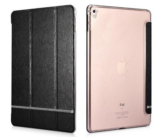 Husa slim cu spate transparent, smart cover, functie stand, iPad Pro 9.7 - Xoomz by iCarer Shining, Negru