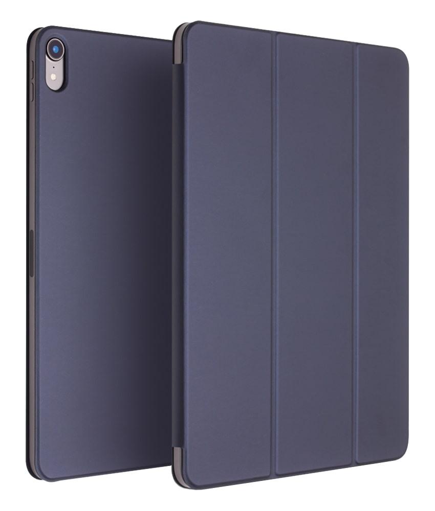 Husa ultra slim, magnetica, stand, smart cover, iPad Pro 12.9 (2018) - Qialino, Albastru