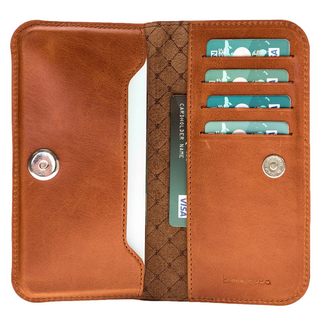 Portofel piele naturala slim universal, inchidere magnetica, slot carduri bancnote, telefon - Bouletta, Burnished tan