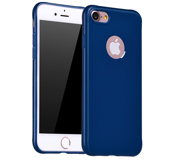 Husa slim mata, TPU moale si fin, tip back cover, iPhone 7 - Hoco Fascination, Albastru